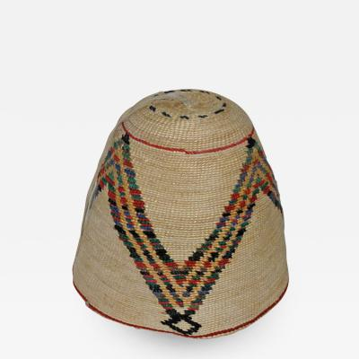 Nez Perces cornhusk and wool hat