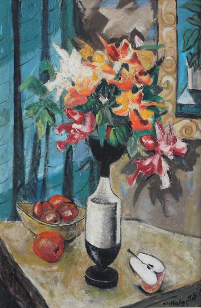 Nicholas Takis Dagobert Peche Vase with Flowers