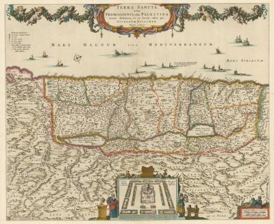 Nicholas Visscher An influential map of the Holy Land