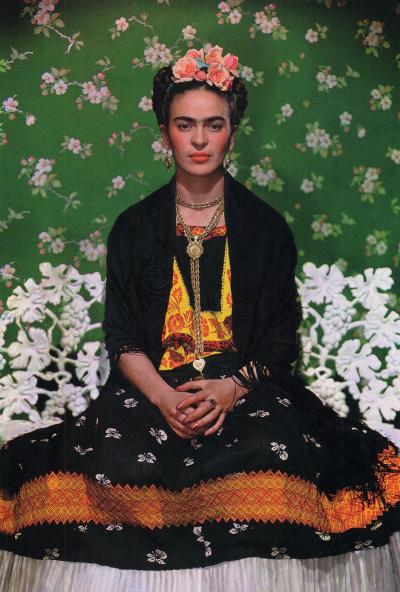 Nickolas Muray Frida Kahlo on White Bench New York