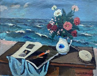 Nicolai Cikovsky Bouquet by the Sea