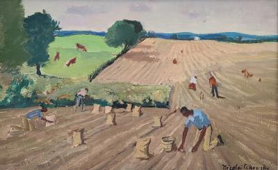 Nicolai Cikovsky painting on Canvas