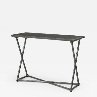 Nicolas Aubagnac SAMSON Forged steel and Hainaut stone console