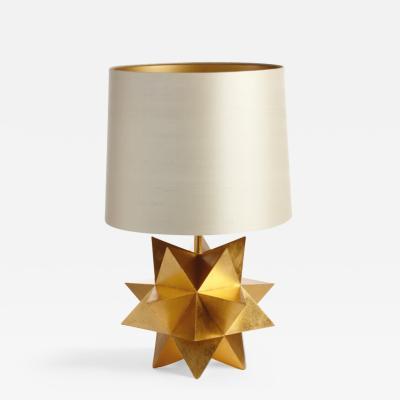 Nicolas Aubagnac STELLA 24k Gold leaf table lamp