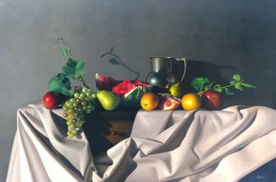Nicolas Fasolino Hyper realistic Still life Oil on Canvas by Nicolas Fasolino
