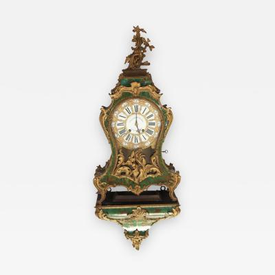 Nicolas Jean Marchand Fine 18th Century French Horn and Gilt Bronze Bracket Clock Stamped Marchand