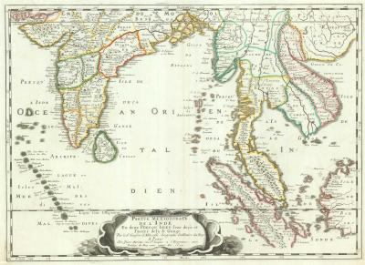 Nicolas Sanson 17th century map of the East Indies