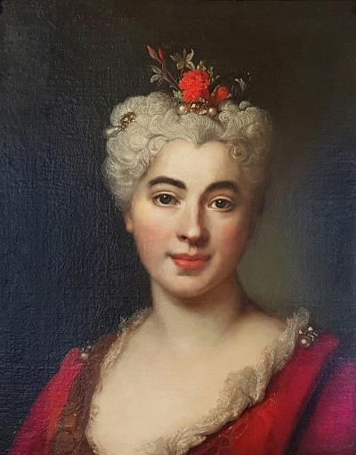 Nicolas de Largilli rre Portrait Of Elisabeth Marguerite The Artists Daughter