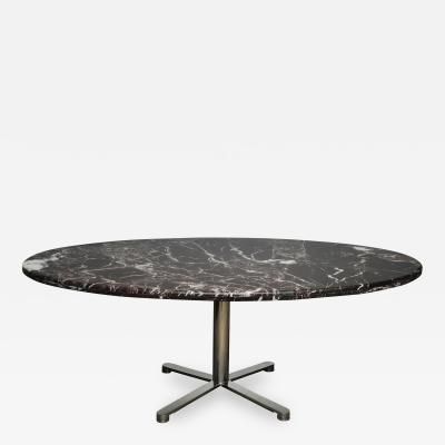 Nicos Zographos Marble and Stainless Steel Dining Table