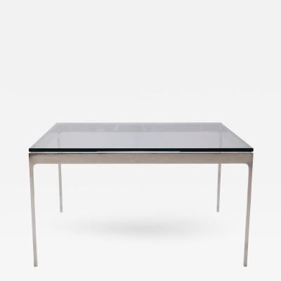 Nicos Zographos Minimalist Stainless Steel Cocktail Table by Nicos Zographos
