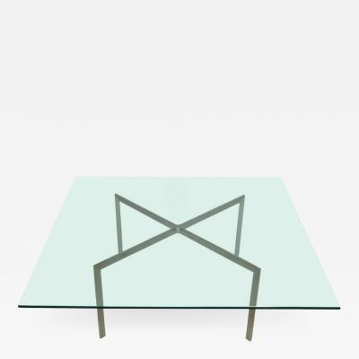 Nicos Zographos Nicos Zographos Steel and Glass Coffee Table