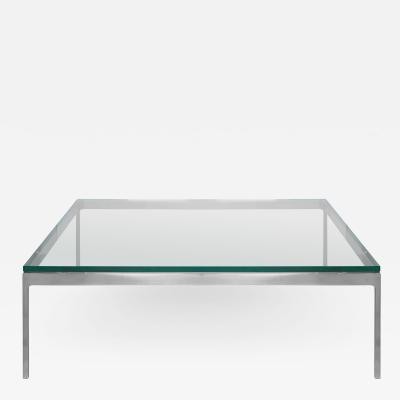 Nicos Zographos Nicos Zographos TA35 Low Stainless Steel Square Coffee Table