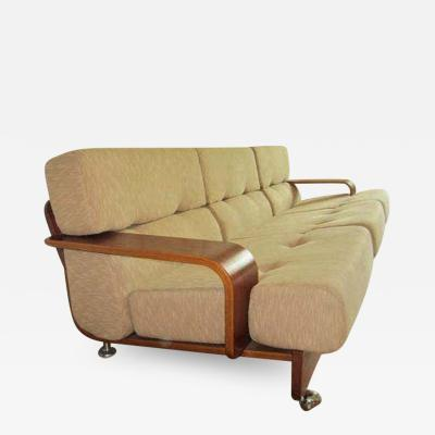 Niels Eilersen Rare N Eilersen Danish Modern Teak Three Seat Sofa Mid Century