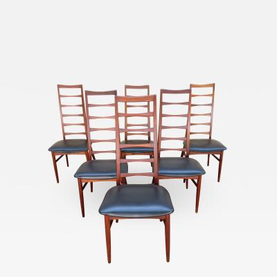 Niels Koefoed 6 Lovely Niels Kofoed style Teak Danish Modern Ladderback LIZ Chair