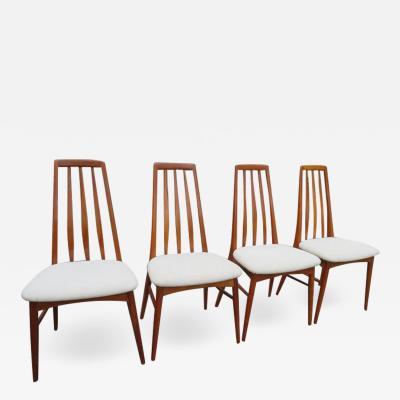 Niels Koefoed Lovely Set of Four Teak Eva Dining Room Chairs by Niels Koefoed 1960s