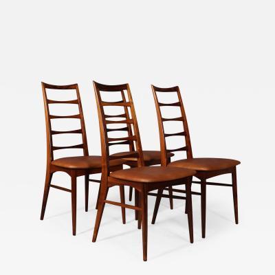 Niels Koefoed Niels Koefoed Set of 4 chairs model Lis of solid rosewood 4