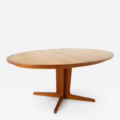 Niels Koefoed Niels Koefoeds for Uldum Mobelfabrik Danish Teak Pedestal Base Dining Table