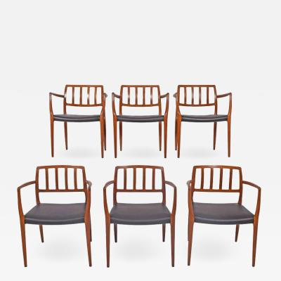 Niels M ller Set of Six Teak Armchairs Design by Niels O Moller