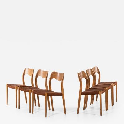 Niels Otto M ller Dining Chairs Model 71 Produced by J L M llers M belfabrik