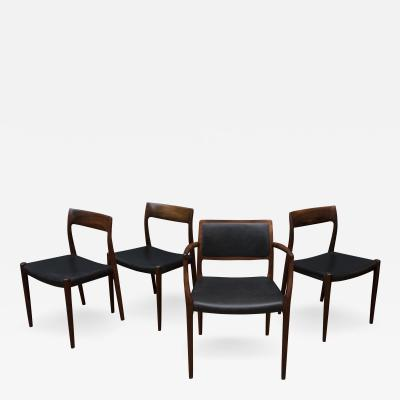 Niels Otto M ller Eight Niels O Moller Model 77 and 80 Rosewood Dining Chairs