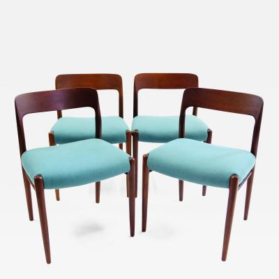 Niels Otto M ller Four Niels Otto Moller Teak Dining Chairs for JL Moller Denmark 1954