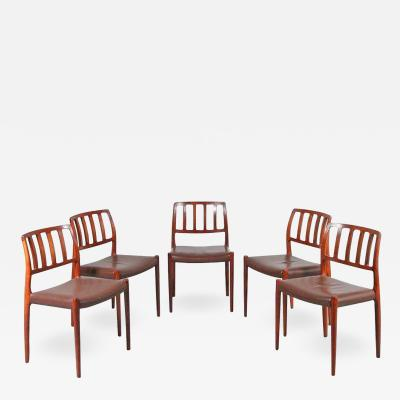 Niels Otto M ller M ller Model 83 Dining Chairs Denmark 1960