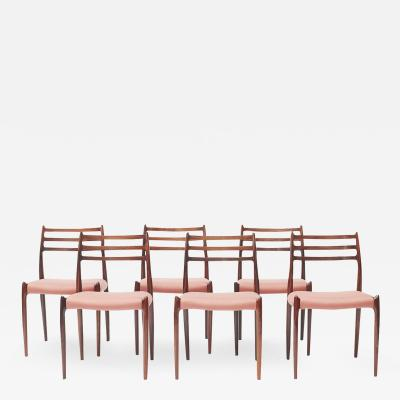 Niels Otto M ller NIELS OTTO M LLER SET OF SIX DINING CHAIRS MODEL 78