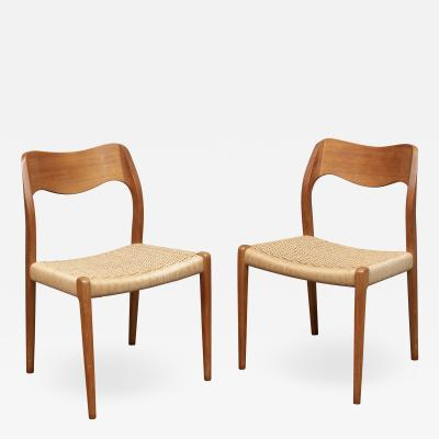Niels Otto M ller Niels Moller Model 71 Teak Dining Chairs