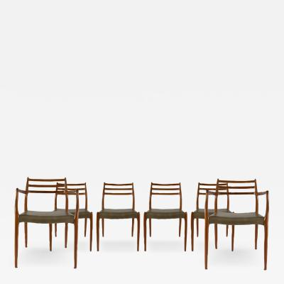 Niels Otto M ller Niels Otto Moller Set Of Six Teak Dining Chairs