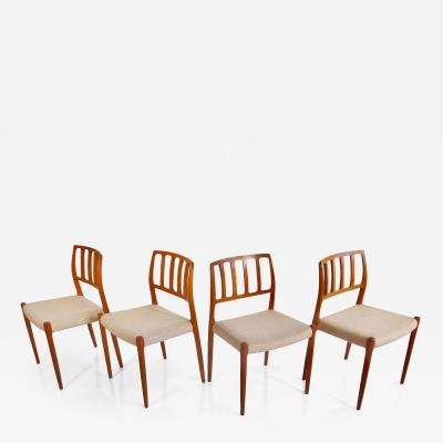Niels Otto M ller Set of Four Model 83 Niels Otto M ller Teak Chairs