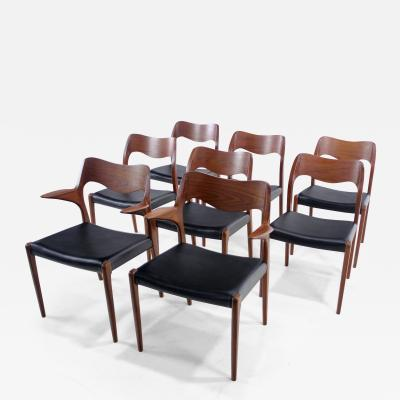 Niels Otto M ller Set of Six Danish Modern Dining Chairs Designed by Niels Otto Moller