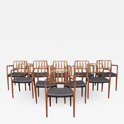 Niels Otto M ller Set of Ten Niels Otto M ller for J L M ller Model 83 Dining Chairs