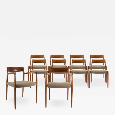 Niels Otto M ller Set of Ten Rosewood Niels O M ller Dining Chairs