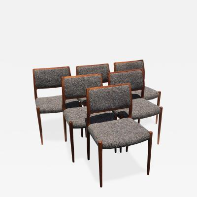 Niels Otto Moller Set of Six Niels Moller Dining Chairs