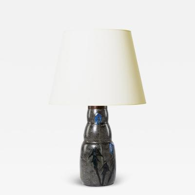 Nils Emil Lundstrom Table Lamp with Thistle design by Nils Emil Lundstrom