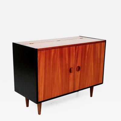 Nils Jonsson Scandinavian Modern Flip Top Storage Cabinet 1960s in Teak after Nils Jonsson