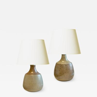 Nils Kahler Duo of Pilgrim Flask Table Lamps by Nils Kahler for Kahler Keramik