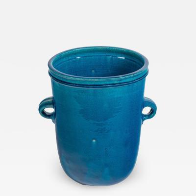 Nils Kahler Nils K hler Blue Stoneware Vase for Herman A Kahler Keramik