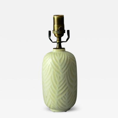 Nils Thorsson Nils Thorsson for Royal Copenagen Lamp with Matte White Patterned Glaze