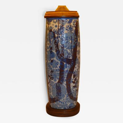 Nils Thorsson Royal Copenhagen Baca Pottery Table Lamp by Nils Thorsson