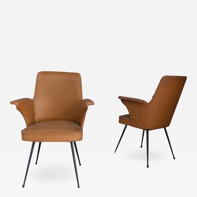 Nino Zoncada pair of chairs by Nino Zoncada from 1950