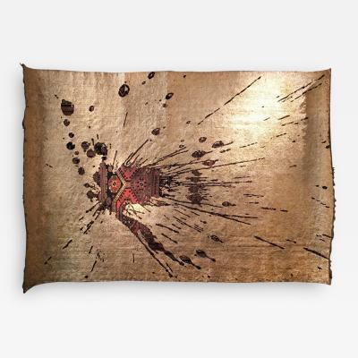 No mi Kiss GOLDEN SPLASH wall piece tapestry