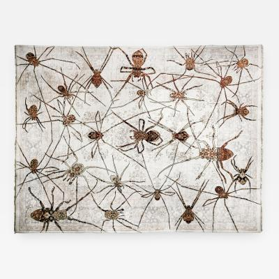 No mi Kiss SPIDERS tapestry artpiece