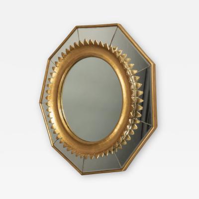 Nonagonal Mirror Italy circa 1950