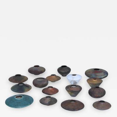 Norman Bacon Modernist Raku Pottery Collection