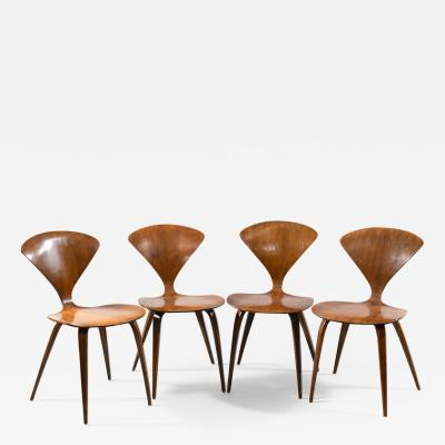 Norman Cherner SET OF FOUR CHAIRS BY NORMAN CHERNER FOR PLYCRAFT