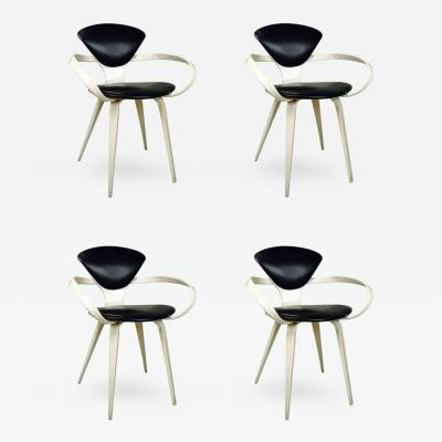 Norman Cherner Set of Four Cherner Armchairs for Plycraft