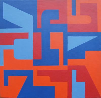 Norman Ives Abstract Painting by Norman Ives 1969