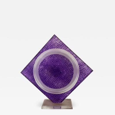 Norman Mercer Amethyst Acrylic Sculpture