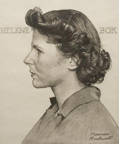 Norman Rockwell Portrait of Helene Bok